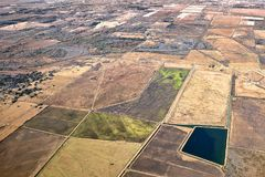 鸟瞰图农业风景 库存图片
