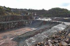 鸟瞰图到斑岩矿里 猎物 免版税库存图片