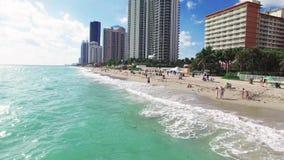 鸟瞰图北部迈阿密海滩 股票录像