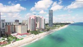 鸟瞰图北部迈阿密海滩 股票视频