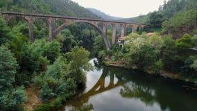 鸟瞰图古老罗马高架桥 股票录像