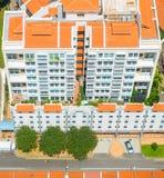 鸟瞰图唐人街街道新加坡 图库摄影
