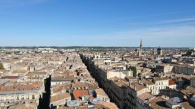 鸟瞰图在红葡萄酒,法国 股票录像