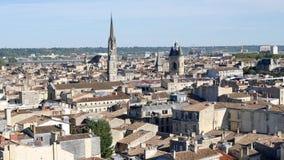 鸟瞰图在红葡萄酒,法国 股票视频