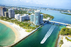 鸟瞰图在迈阿密 库存照片