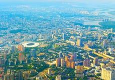 鸟瞰图地平线基辅乌克兰 免版税库存照片