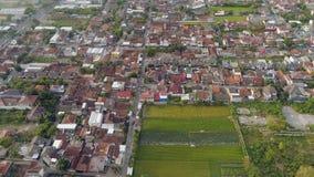 鸟瞰图城市日惹,印度尼西亚 图库摄影