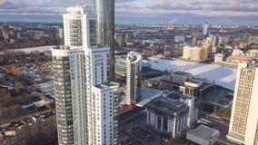 鸟瞰图复杂的公寓和住宅房子邻里 夹子 现代luxery的顶视图 免版税库存照片