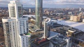 鸟瞰图复杂的公寓和住宅房子邻里 夹子 现代luxery的顶视图 免版税图库摄影