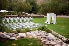 鸟瞰图婚礼 库存图片