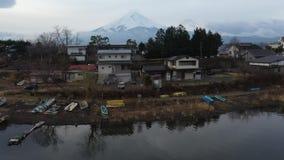 鸟瞰图富士山在日本 股票视频