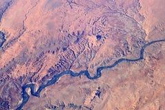 鸟瞰图峡谷沙漠 免版税库存图片