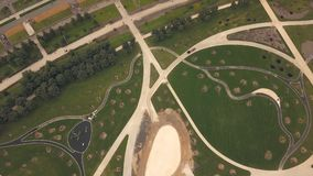 鸟瞰图建筑人民公园在新的城市 建造场所公园 影视素材