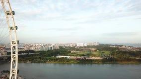 鸟瞰图新加坡过山车好久 股票录像