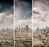 鸟瞰图旧金山地平线和码头39在美丽 库存图片