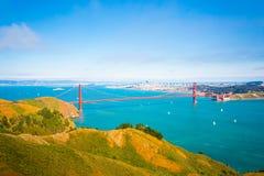 鸟瞰图旧金山金门大桥马林 图库摄影