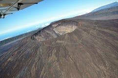 鸟瞰图火山 库存图片