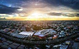 鸟瞰图的曼谷市 库存照片