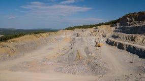 鸟瞰图矿从上面位于俄罗斯 免版税库存图片