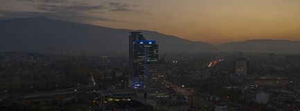 鸟瞰图索非亚,保加利亚,2018年10月21日, 免版税库存图片
