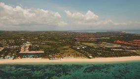 鸟瞰图美丽的海滩,巴厘岛 股票录像