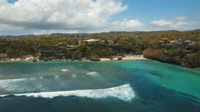 鸟瞰图美丽的海滩,巴厘岛 图库摄影