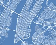 鸟瞰图美国纽约传染媒介街道地图 向量例证