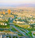 鸟瞰图路德黑兰 伊朗 免版税库存照片