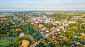 鸟瞰图轰隆Mul Nak省Phichit泰国 库存图片