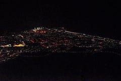 鸟瞰图都市风景在晚上新生巴西 免版税库存图片