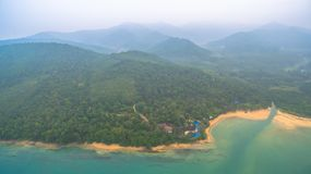 鸟瞰图酸值姚亚伊在Phang Nga,泰国 免版税库存图片
