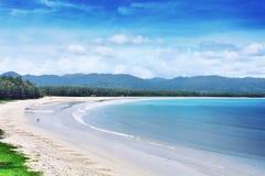 鸟瞰图问题的Phangga海滩 免版税库存照片