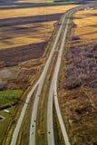 鸟瞰图高速公路 免版税图库摄影