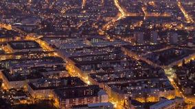 鸟瞰图,对夜timelapse的大城市天,能源消耗 影视素材