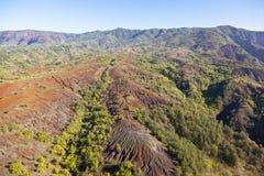 鸟瞰图,考艾岛,夏威夷 库存照片
