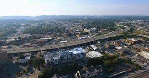 鸟瞰图,诺克斯维尔,田纳西,美国街市4k 股票视频