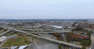鸟瞰图,诺克斯维尔,田纳西,美国街市4k 股票录像