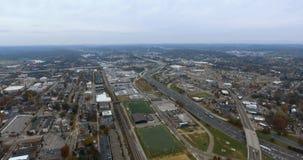 鸟瞰图,诺克斯维尔,田纳西,美国街市4k 影视素材