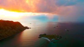 鸟瞰图, Lofoten海岛,雷讷,挪威 免版税库存照片