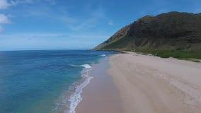 鸟瞰图:夏威夷海滩 股票视频