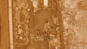 鸟瞰图 在行星火星表面的飞行  股票录像