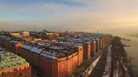 鸟瞰图 斯德哥尔摩市 股票录像
