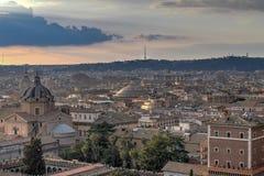 鸟瞰图-罗马,意大利 免版税库存图片
