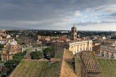 鸟瞰图-罗马,意大利 图库摄影