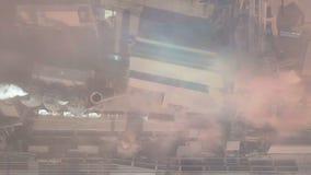 鸟瞰图 老工厂 股票录像