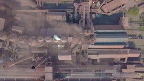鸟瞰图 老工厂 股票视频