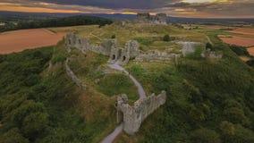 鸟瞰图 Dunamase岩石  Portlaoise 爱尔兰 免版税库存照片
