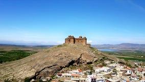 鸟瞰图 La卡拉奥拉城堡 安大路西亚格拉纳达西班牙 股票视频
