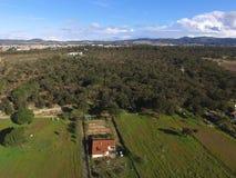鸟瞰图Arrà ¡ bida农场 免版税库存照片