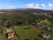 鸟瞰图Arrà ¡ bida农场 库存照片